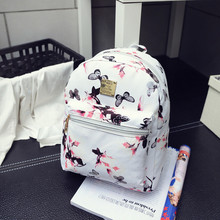 New Hot Fashion Women Casual Shopping Package Ladies Casual Butterfly Floral Printing Travel Bags Leisure PU Leather Backpacks