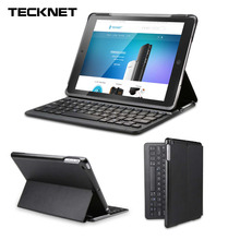 TeckNet Folio Bluetooth Wireless Keyboard Cover for iPad Air 2 iPad Pro 9.7 Version Smart Case with Auto Sleep / Wake Stand X368(China)