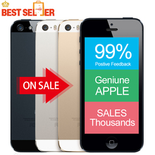"Original iPhone 5s Unlocked Apple 5s Smartphone 4.0"" 640x1136px A7 Dual Core 32GB ROM IOS 9 3G WIFI 8MP"