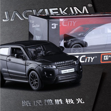 New Metal 1:36 scale high simulation car metal pull back Aurora SUV Grind arenaceous matte black models Kids toys free shipping(China)