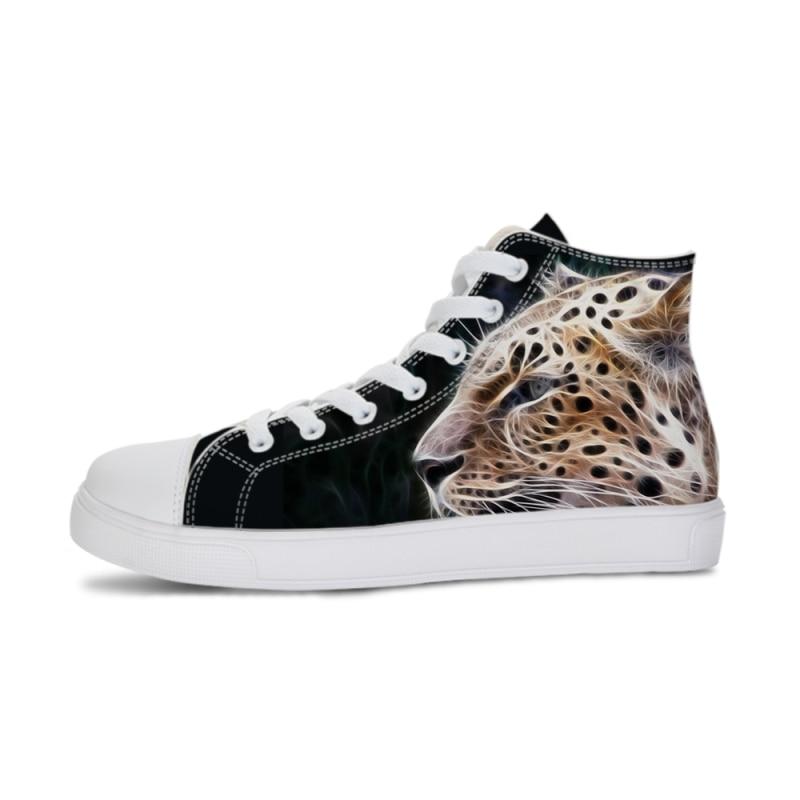Cheetah Animal 3D Sneaker Vulcanized Shoes Men Shoes High-top Flat Lace-up Sneakers Footwear Shoe Autumn Walking Tenis Feminino