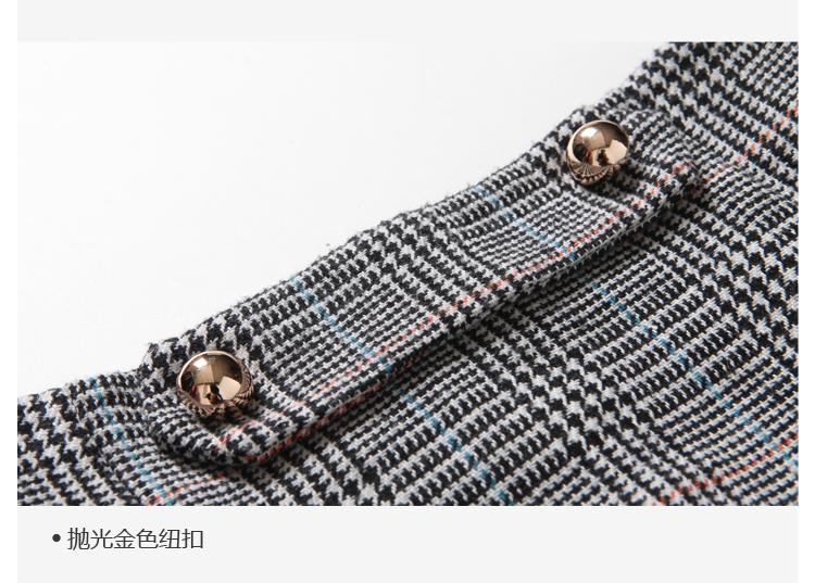 Women Houndstooth Skirt (17)