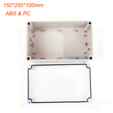 Good Quality box work for terminal /Meter/Switch Enclosure Waterproof IP66 Clear Cover plastic boxes 150*250*100mm DS-AT-1525(China)