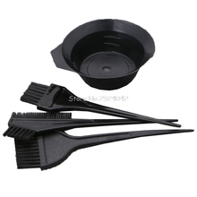 1Set/4Pcs Hair Dye Colouring Brush Comb Bowl Hairdressing Styling Tools Durable HTY07