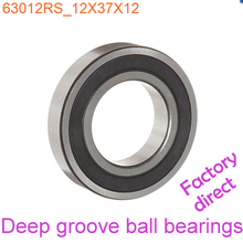 12mm Diameter Deep groove ball bearings 6301 2RS 12mmX37mmX12mm Double rubber sealing cover ABEC-1 CNC,Motors,Machinery,AUTO