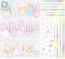 Rocooart DS006 Water Transfer Foils Nail Art Sticker Harajuku Rainbow Stars Element Nail Wraps Decals Manicure Decor Styling