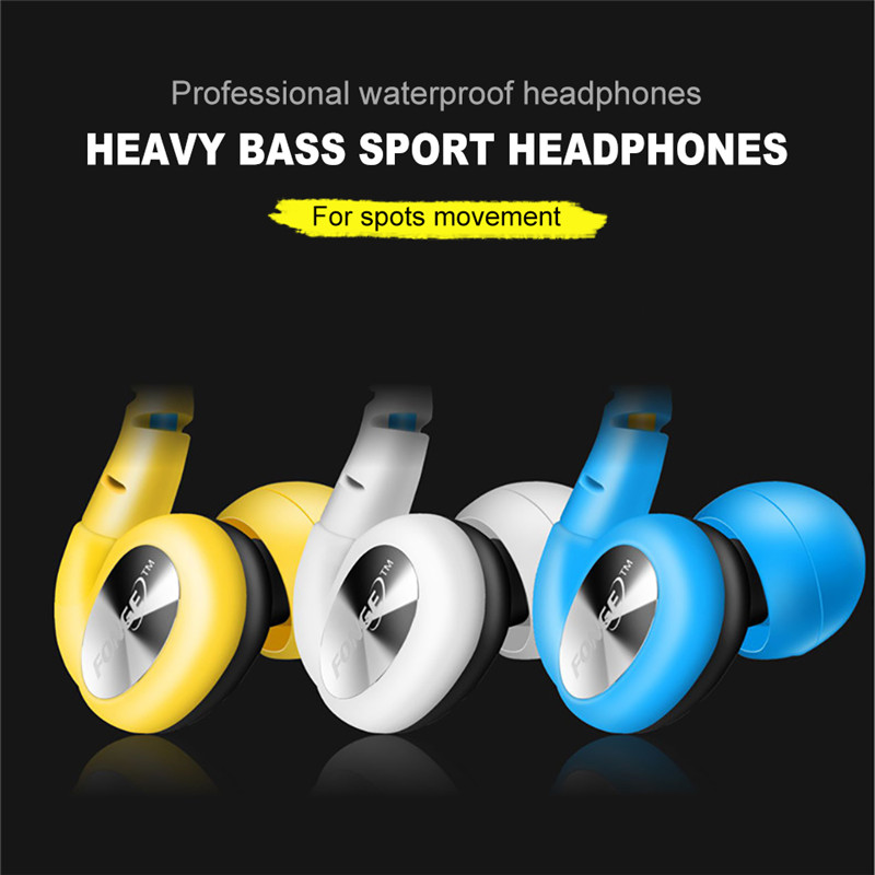 Proffesional Waterproof Sport Headphone Subwoofer Sound Quality Headset Anti-noise Earphone With Mic Earbuds For Earpods Airpods