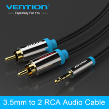 Vention rca jack cable 2 rca male to 3.5 male audio cable 2m aux cable for Edifer Home Theater DVD VCD iPhone Headphones