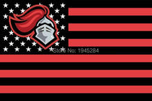Rutgers Scarlet Knights with US Stars Stripes Flag Banner New 3x5FT 90x150CM Polyester NCAA, free shipping(China)