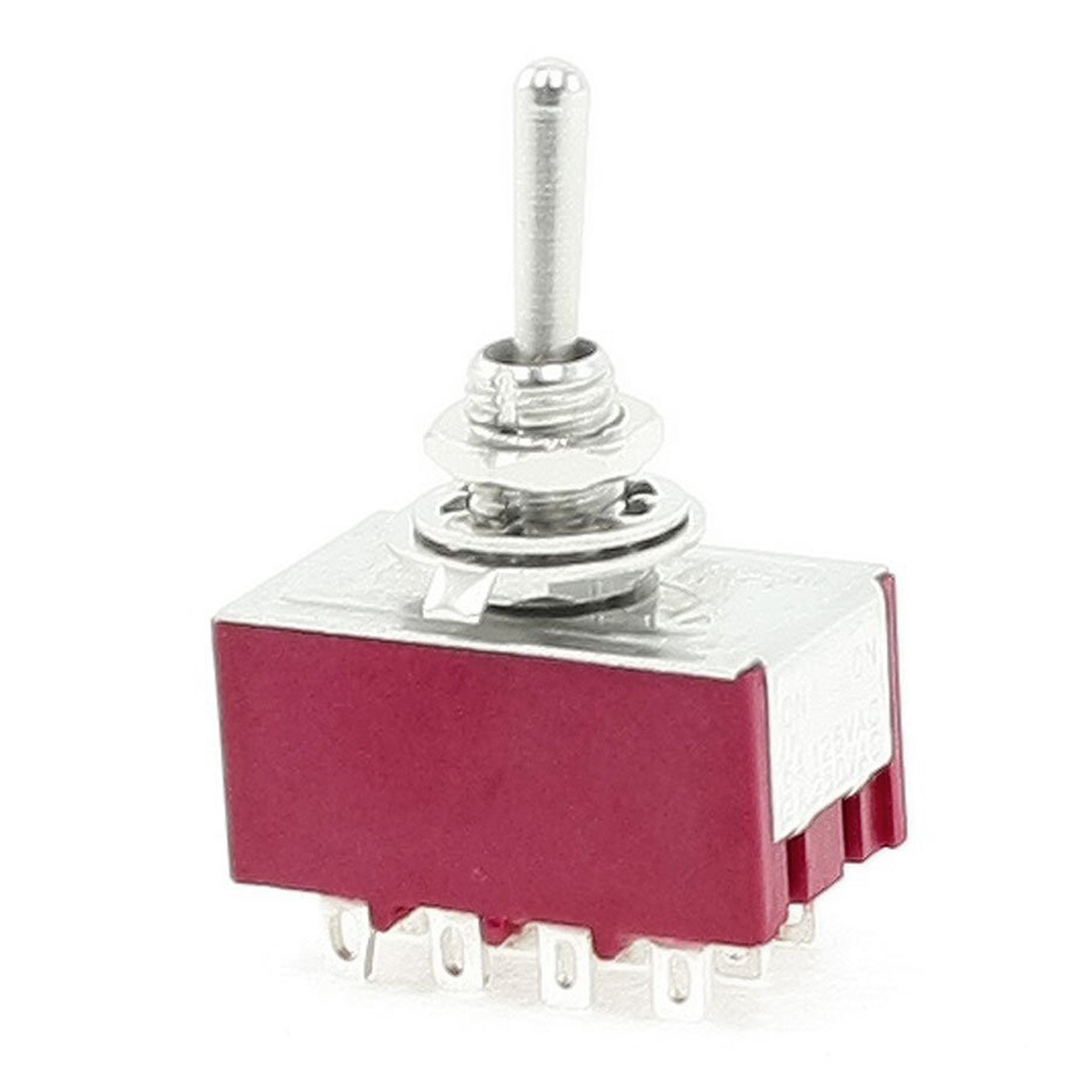 Hot sale6A/125VAC 2A/250VAC 12 Pin 4PDT ON/ON 2 Position Mini MTS-402 Toggle Switch<br><br>Aliexpress