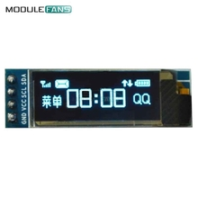 10PCS 0.91 Inch 128x32 IIC I2C Blue OLED LCD Display DIY Module SSD1306 Driver IC DC 3.3V 5V Module For Arduino PIC(China)