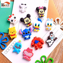 1 pcs silicone Cartoon Animal fridge magnets whiteboard sticker Refrigerator Magnets Kids gifts Home Decoration Free shipping