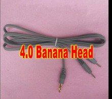 4.0 Banana Head Wire 2pins electrode Connecting wire cable for tens ems physiotherapy machine ..