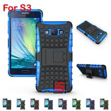Armor Rugged Hybrid Heavy Duty Hard PC TPU ShockProof Holder Stand Back Phone Case caso carcasa Cover For Samsung Galaxy S3(China)
