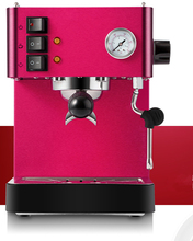 Cute red color thermo-block high quality Espresso coffee maker boiler cappuccino coffee machine with pressure gauge(China)