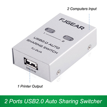 2 Port USB 2.0 Auto sharing Switcher 2 USB Type-B In 1 Type-A Out Keyboard/hotkey Switch For 2 Computers share 1 Printer Scanner