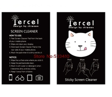 10pcs Cat design mobile screen cleaner.Cute cat Magic cleaner.Mobile sticky cleaner,mini mobile phone cleaner free shipping(China)