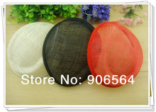 "3 color for select 6.7""/17cm  SINAMAY fascinator base sinamay hats  for making fascinators party hats DIY Millinery material"