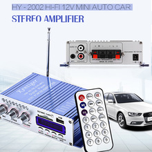 HY-502 USB FM Audio Car Stereo Amplifier Radio MP3 Speaker LED Hi-Fi 2 Channel Digital Display Power Player for Auto Motorcycle