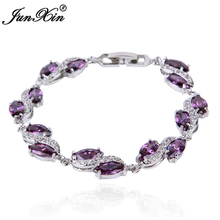 Women Fashion Jewelry Purple Bracelets 10KT White Gold Filled AAA Zircon Stone Promotion Price 2017 BR0104