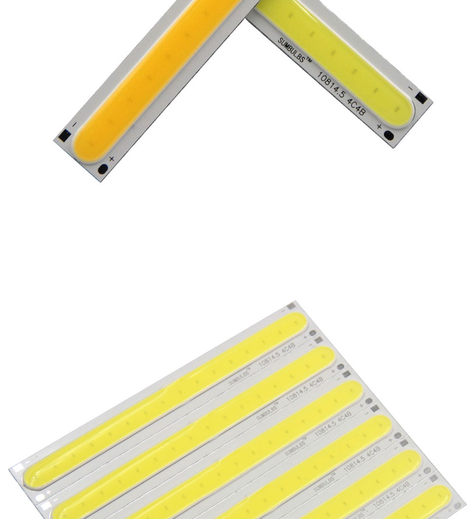 108x15MM 4W Warm Cool White COB LED Light Source Strip Bard Lights DC12V 500LM LED Lamp Bulb DIY Car House Lighting (2)