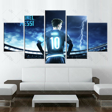 5 piece barcelona Mess footba canvas printed painting for living picture wall art HD print decor modern artworks football poster