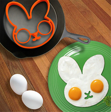 1pc Orange Silicone rabbit Cartoon shape Fry Egg Frame Egg Mold bread Pastry making mold tools Cake Mold baking supplies