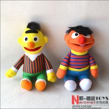 "2Pcs 10"" 25cm Small Sesame Street  Ernie Bert Plush Toy Dolls Kids Baby Stuffed Toy Figure gift for baby"