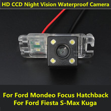 Car CCD Night Vision Backup Parking Reversing Rear View Camera For Ford Mondeo Focus Hatchback Fiesta S-Max S Max 2010 2011 Kuga