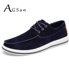 Buy AGSan Men Lace Leather Casual Shoes 2017 Autumn Krasovki Shoes Adult Moccasins Chaussure Homme British Big Size 46 45 10 9.5 for $23.80 in AliExpress store