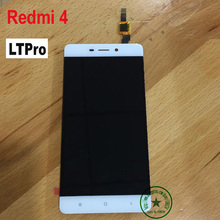 LTPro Black White Gold TOP Quality NEW Hongmi 4 LCD Display Touch Screen Digitizer Assembly For Xiaomi Redmi 4 16gb phone Parts