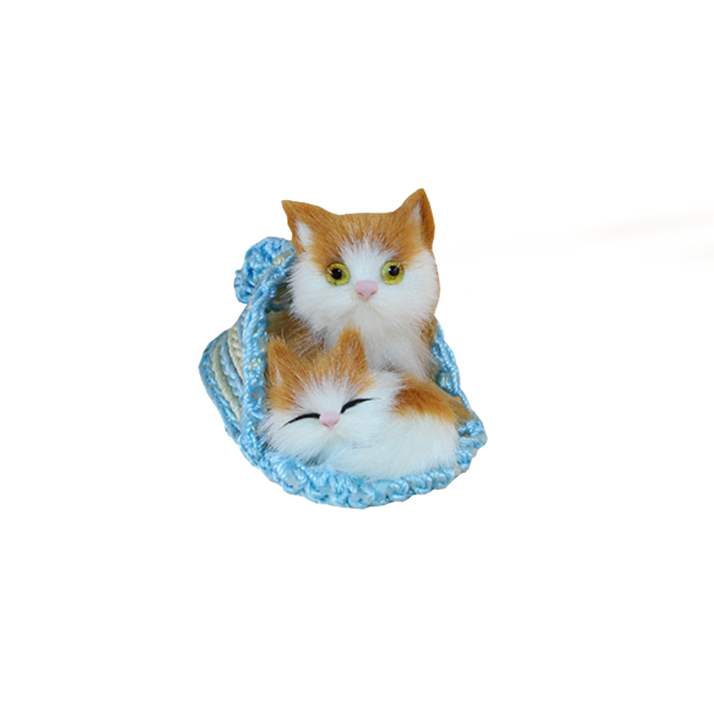 1* 10cm Lovely Animal Mother and Child Cats Kittens Soft Plush Kids Toys for Children Room Christmas Decoration Model Game Gifts(China (Mainland))