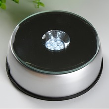 LED Plastic Light Stand Big Rotary Light Base for Jewelry Watch 3D Crystal Display 7 Light Bulbs 120mm