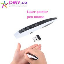 2017 Convenient Mini Handheld 2.4GHz Laser Pointer Air Mouse Optical USB wireless Pen Mouse for Google/Android Smart PC