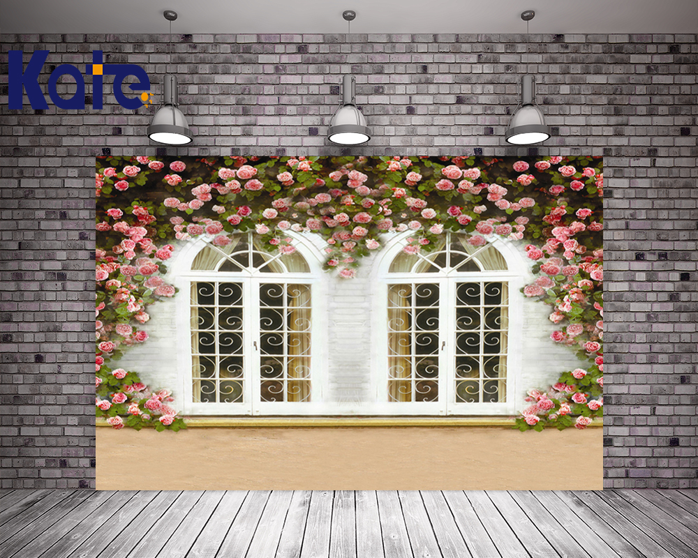 Kate Wedding Flower Wall Photography Backdrops With Window Studio Backdrops Fotografia Washable Seamless Photographie Fond <br>