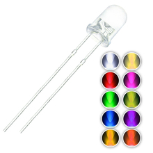 100pcs/lot F3 10 Colors 3MM Round Green/Yellow/Blue/White/Red/Warm White/Orange/Purple/Pink/Yellow Green LED Light Diode