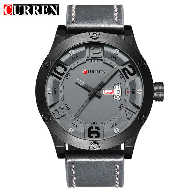 CURREN Mens Watches Top Brand Luxury Famous Men Wrist Watch Man Uhr Black Sports Army Military Quartz Watch Erkek Kol Saati 8251<br>