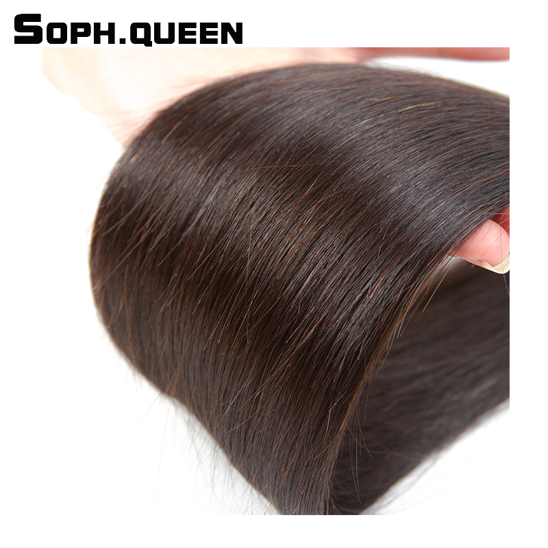 Soph queen Peruvian Remy Hair Straight Wave 3 Bundles Natural Color Human Hair Extension Weave 100g/Pcs