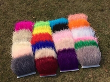 Ostrich feather trims 1 Yards/lot 10-15cm height Ostrich feather fringes 36 colors optional Please choose 1 color! 014008018