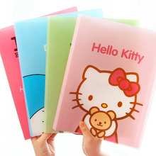 Kawaii Kitty Cat Waterproof Cartoon 10 Pockets Document Bag A4 File Folder Stationery Filing Production.Office Home School