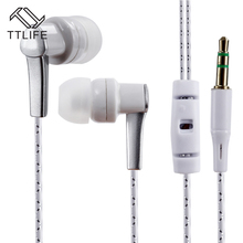 TTLIFE Wired Sports Earphones K3 HiFi Stereo Headphone Music In-ear Original Headset With Mic for Android Phone Xiaomi Mp3(China)