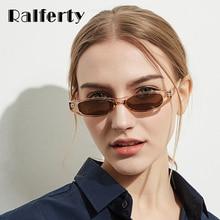 Ralferty 2018 na moda do vintage óculos de sol das mulheres pequeno quadro  uv400 shades mini sunglass eyewear acessórios w81306 em Óculos de sol de ... 9a59569569