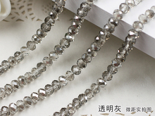 5040 AAA+ Transparent gray Crystal Glass Rondelle beads DIY Jewelry Accessories.2mm 3mm 4mm,6mm,8mm 10mm,12mm Free Shipping!