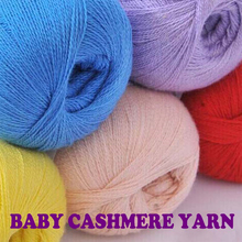 200g/4 Skein Baby Cashmere Crochet Hook Cheap Yarn For Knitting Laine A Tricoter Top Quality Handmade DIY Sweaters Knit Yarn(China)