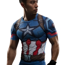 T Shirt Captain America Civil War Tee 3D Printed T-shirts Men Marvel Avengers 3 iron man Fitness Clothing Male Crossfit Tops(China)