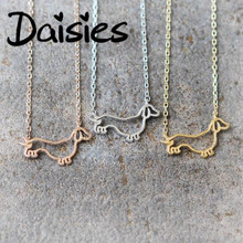 Daisies One Piece Dachshund Necklace Animal Jewelry Pets Dog Necklaces Pendants For Women
