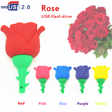 Beautiful Artificial Rose flower Pen drive Romantic love gift usb flash drive u disk memory stick pendrive 4gb 8gb 16gb 32 gb