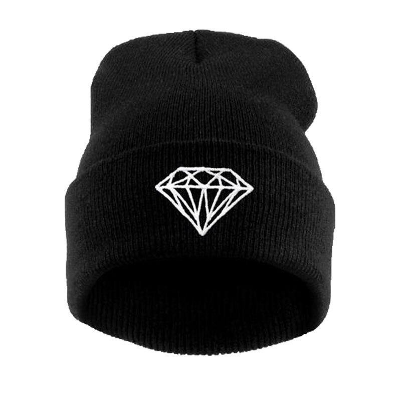 Brand New Gorros 2016 Fashion Beanie Men Casual Winter Hat Warm Diamond Knitted Hats For Women Hip Hop Skullies Beanies Toca Îäåæäà è àêñåññóàðû<br><br><br>Aliexpress