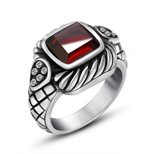 Metrosexual offbeat jewelry ring ring Men Retro domineering inlaid Onyx Ring in SA721