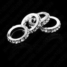 JEXXI Fine Jewelry Findings 50PCS Silver Rhinestone Europe Beads 13mm Dia. With 9mm Hole, Fashion DIY Jewelry Making Accessories(China)